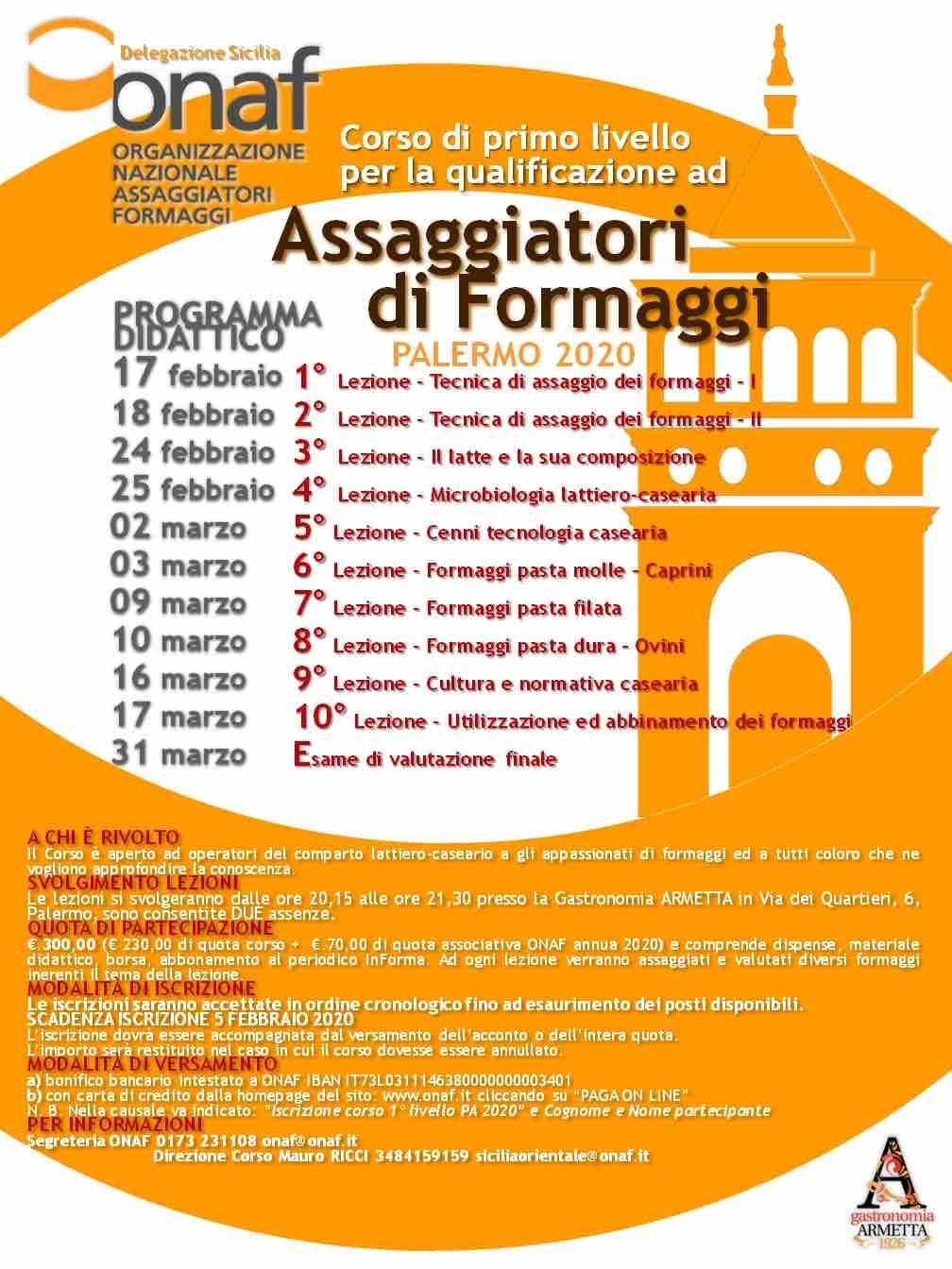 Esami Corso Onaf 1° Livello annualità 2020 Palermo